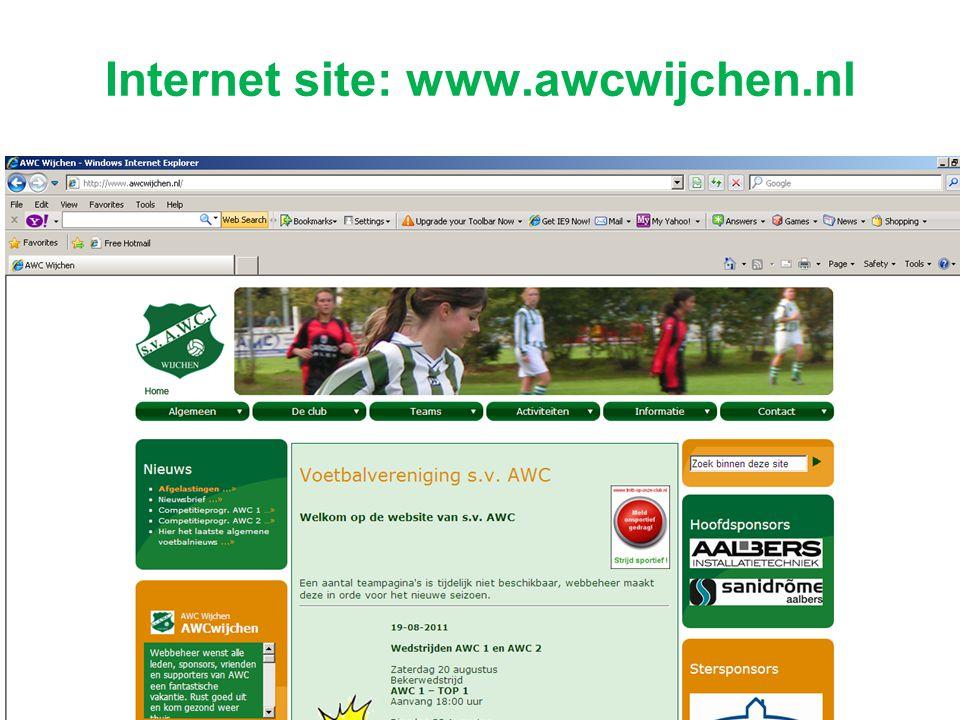 Internet site: www.awcwijchen.nl