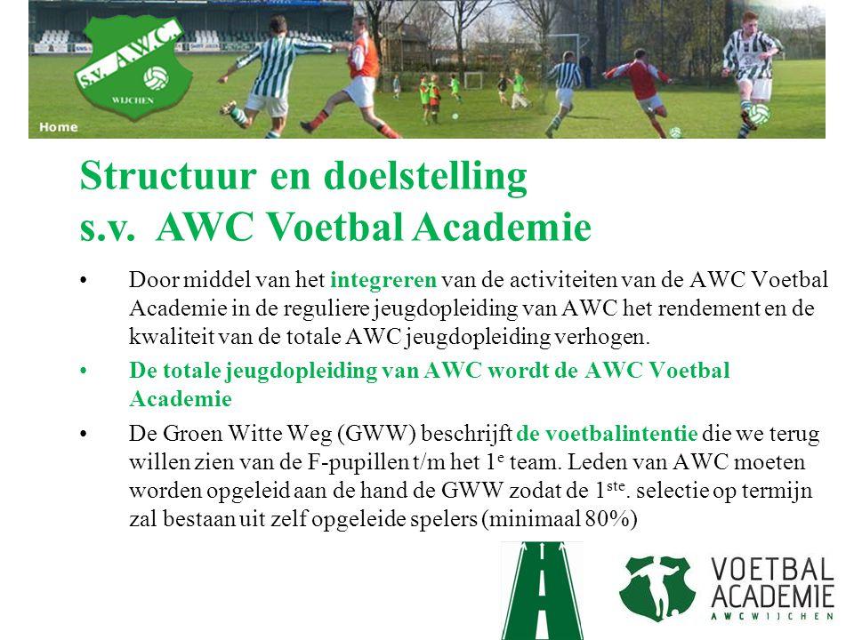 Structuur en doelstelling s.v. AWC Voetbal Academie