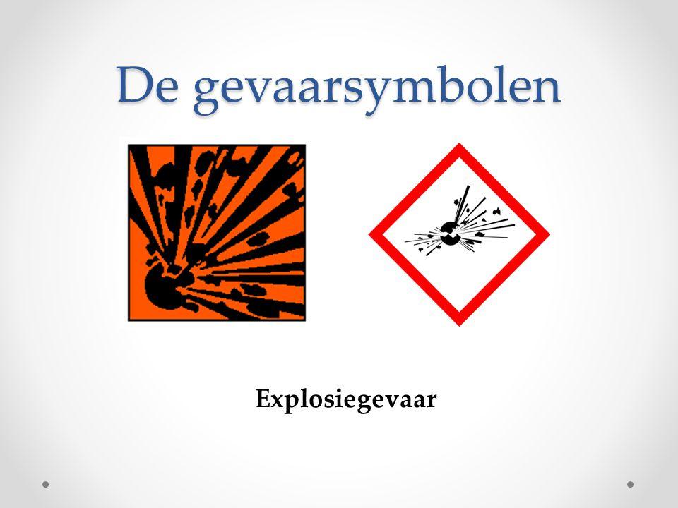 De gevaarsymbolen Explosiegevaar