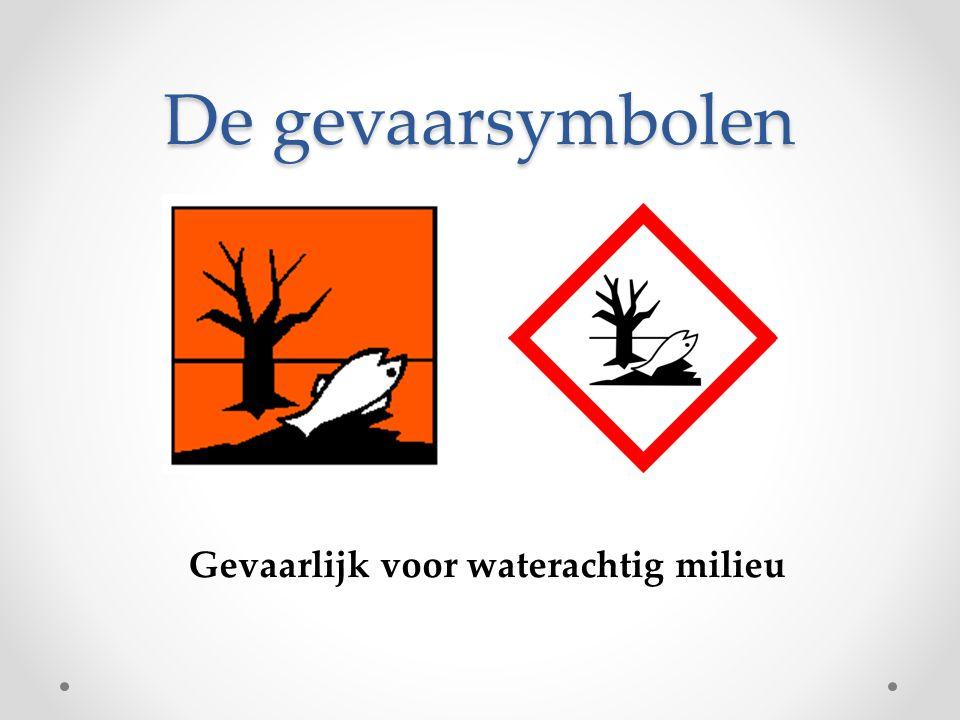 Gevaarlijk voor waterachtig milieu