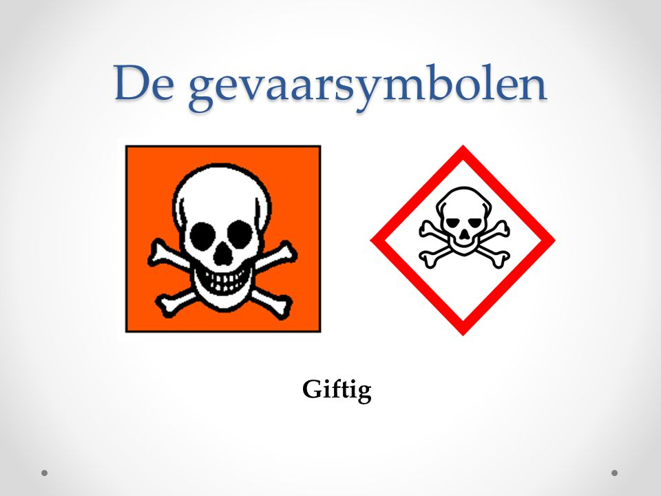 De gevaarsymbolen Giftig