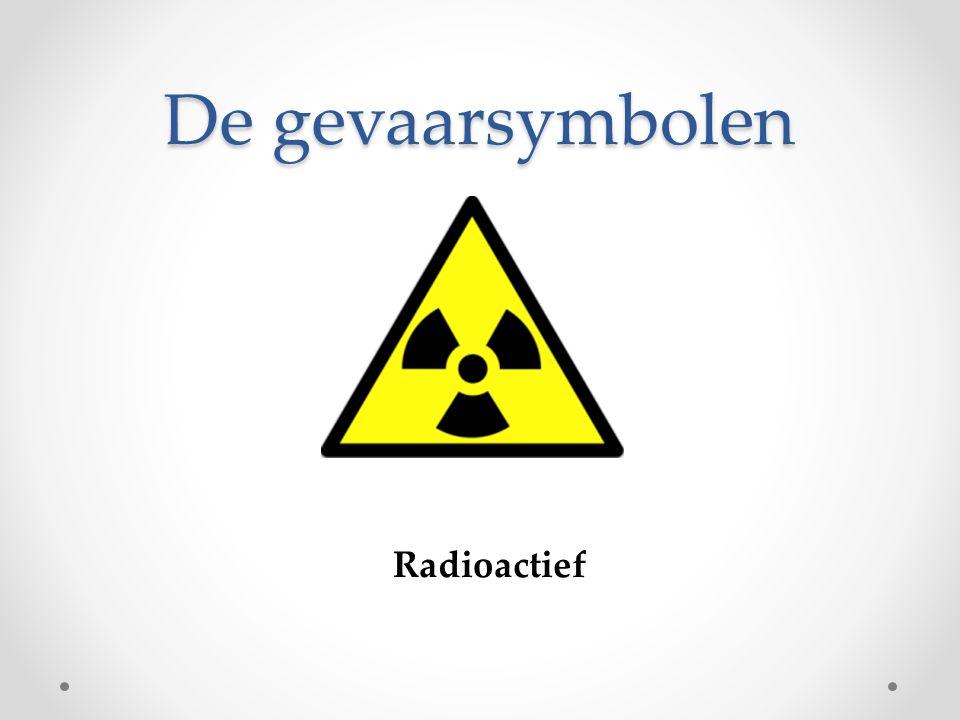 De gevaarsymbolen Radioactief