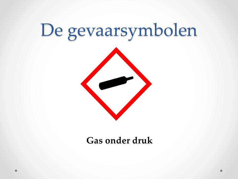 De gevaarsymbolen Gas onder druk
