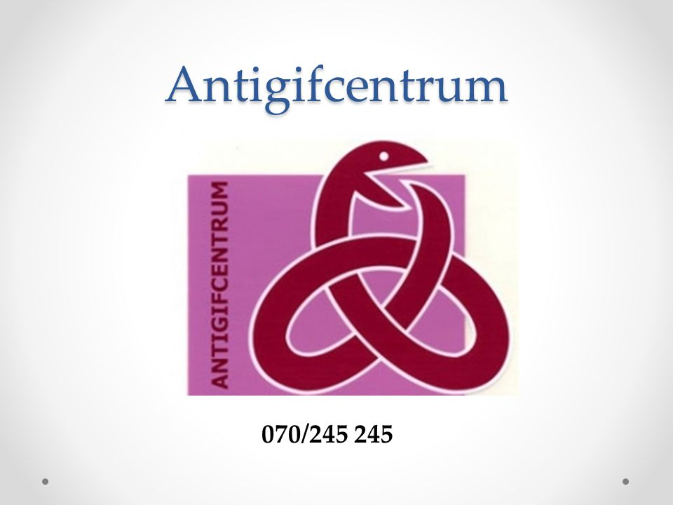 Antigifcentrum 070/245 245