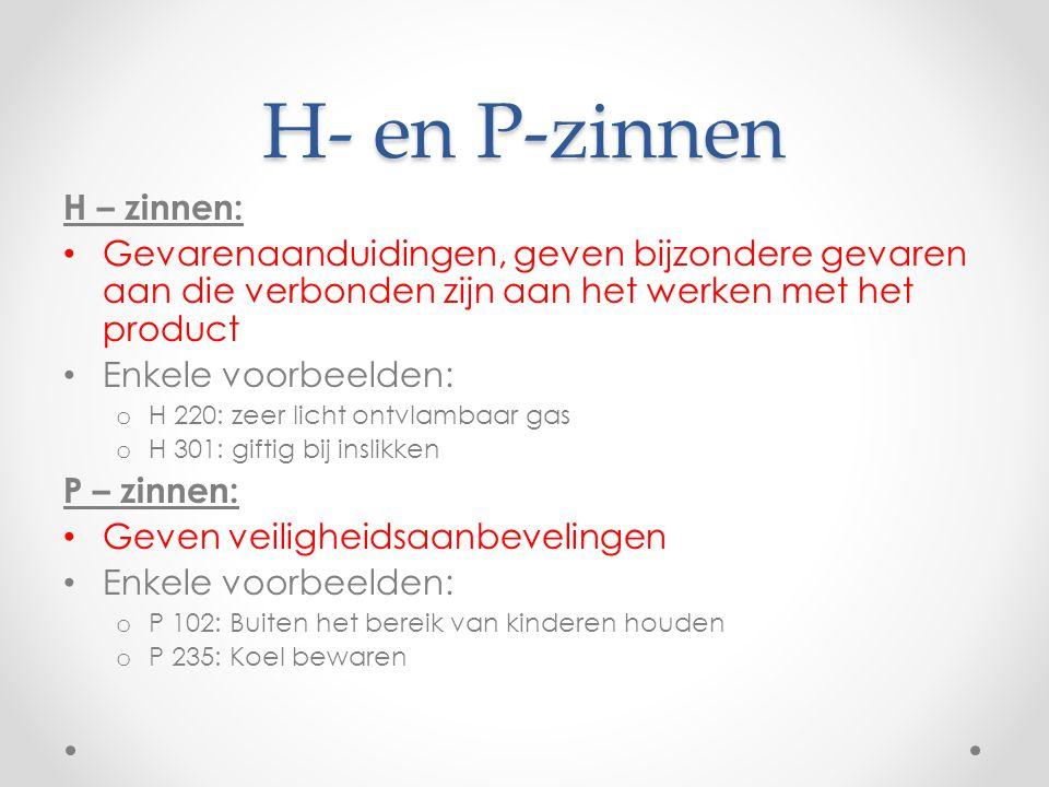 H- en P-zinnen H – zinnen: