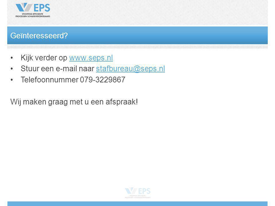 Geïnteresseerd Kijk verder op www.seps.nl. Stuur een e-mail naar stafbureau@seps.nl. Telefoonnummer 079-3229867.