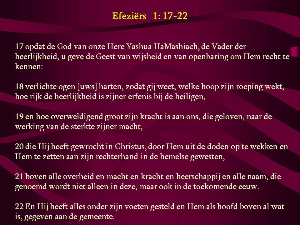 Efeziërs 1: 17-22