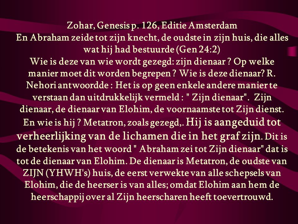Zohar, Genesis p. 126, Editie Amsterdam