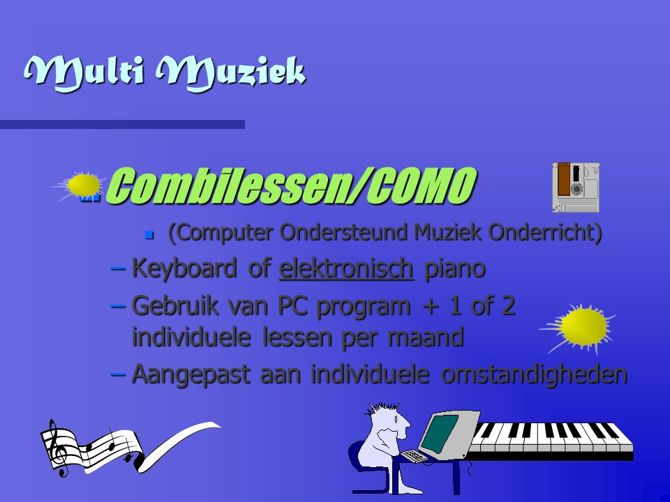 Combilessen/COMO Multi Muziek Keyboard of elektronisch piano