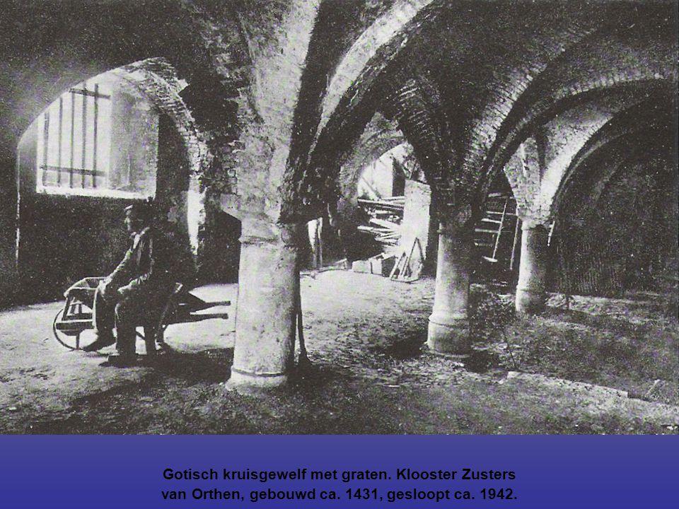 Gotisch kruisgewelf met graten. Klooster Zusters