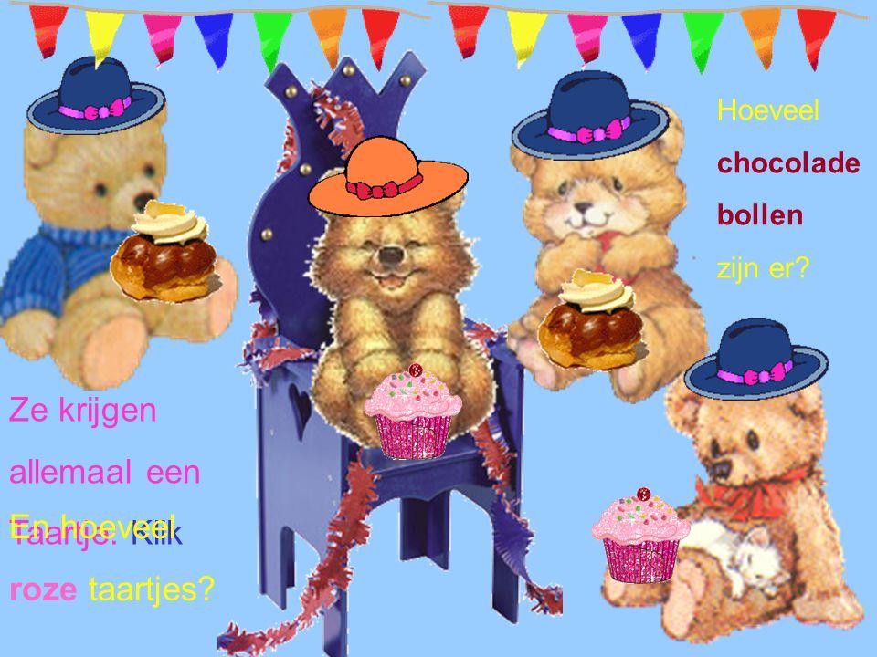 Ze krijgen allemaal een Taartje: Klik En hoeveel roze taartjes