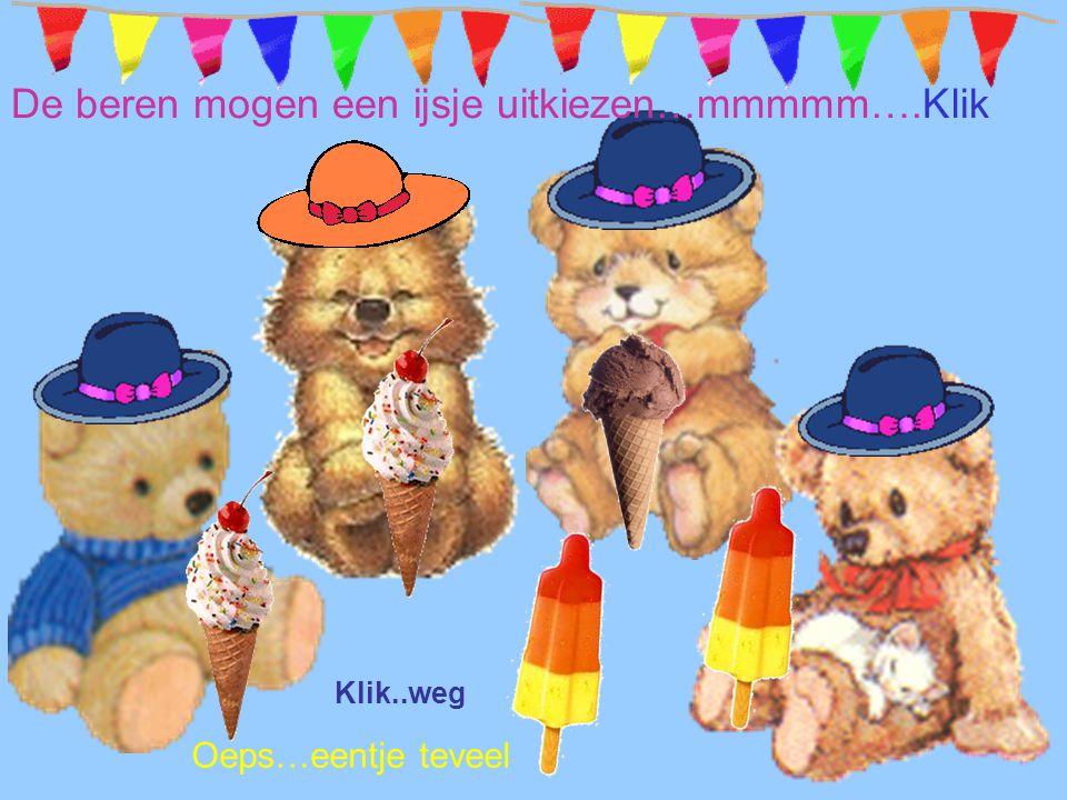 De beren mogen een ijsje uitkiezen…mmmmm….Klik