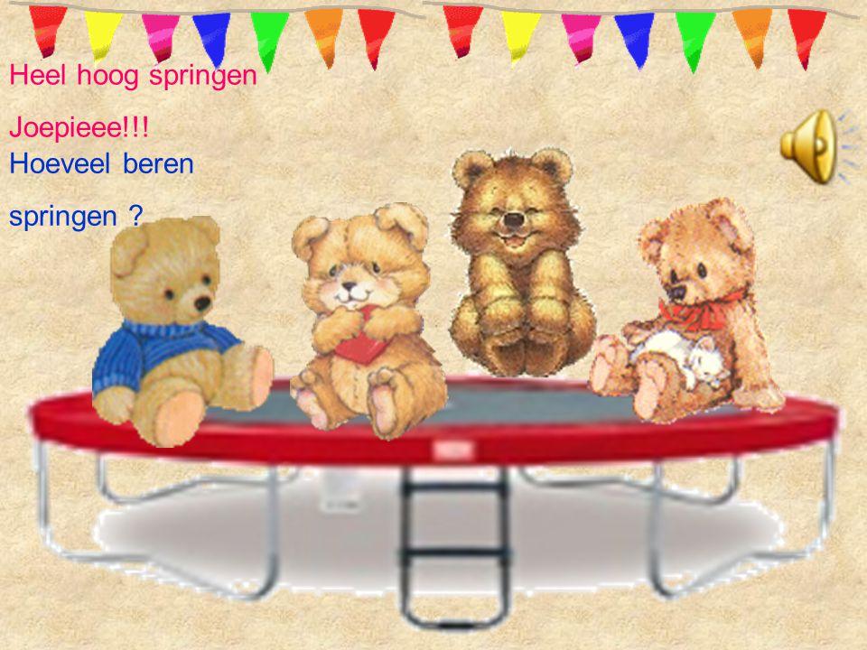 Heel hoog springen Joepieee!!! Hoeveel beren springen