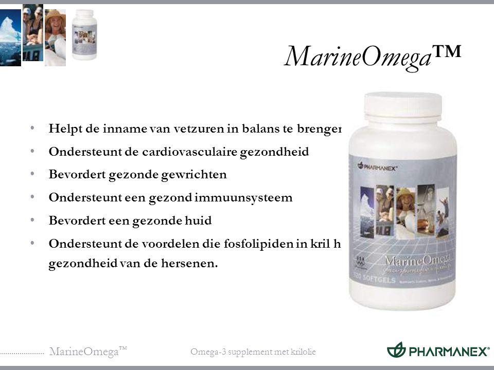 MarineOmega™ Helpt de inname van vetzuren in balans te brengen
