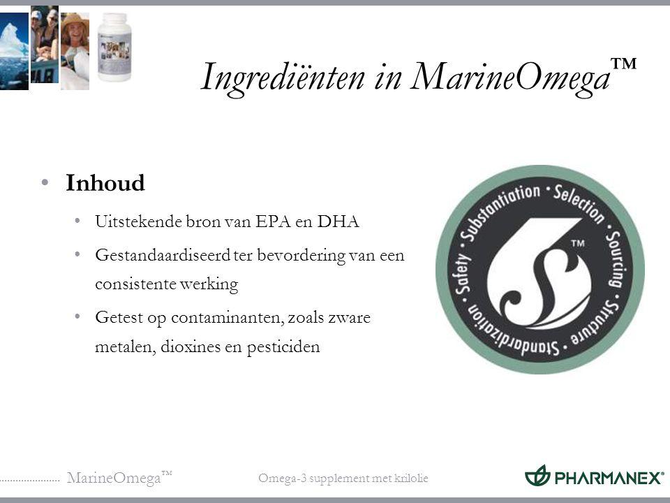 Ingrediënten in MarineOmega™