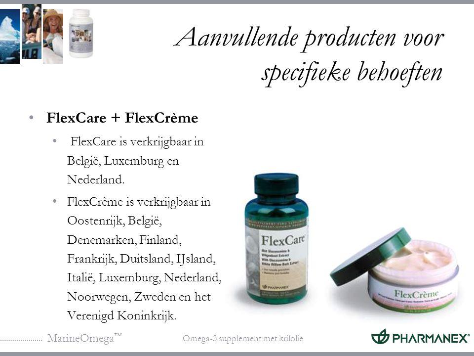Aanvullende producten voor specifieke behoeften