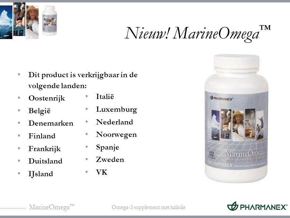 Nieuw! MarineOmega™ Dit product is verkrijgbaar in de volgende landen: