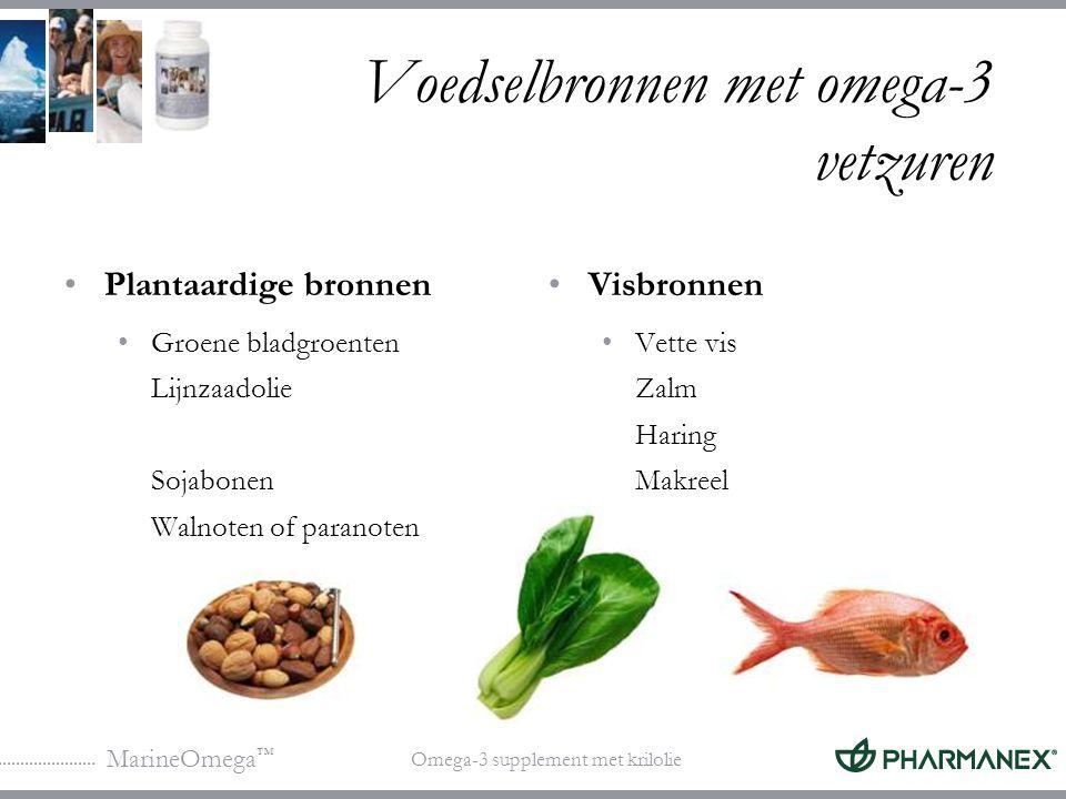Voedselbronnen met omega-3 vetzuren