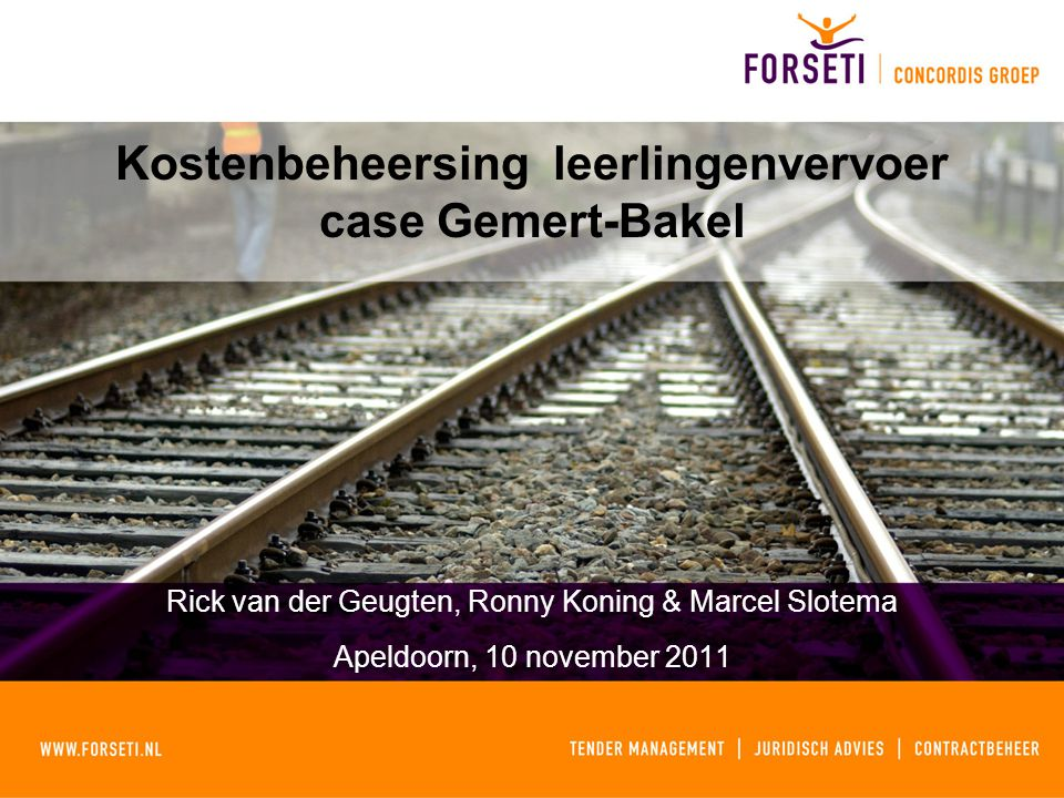 Kostenbeheersing leerlingenvervoer case Gemert-Bakel