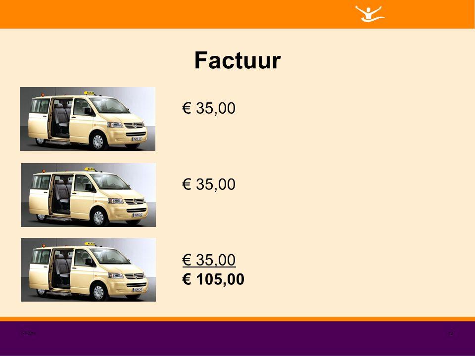 Factuur € 35,00 € 105,00 4-4-2017