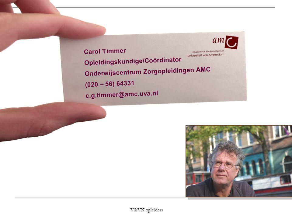 Opleidingskundige/Coördinator Onderwijscentrum Zorgopleidingen AMC