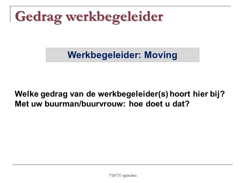 Werkbegeleider: Moving