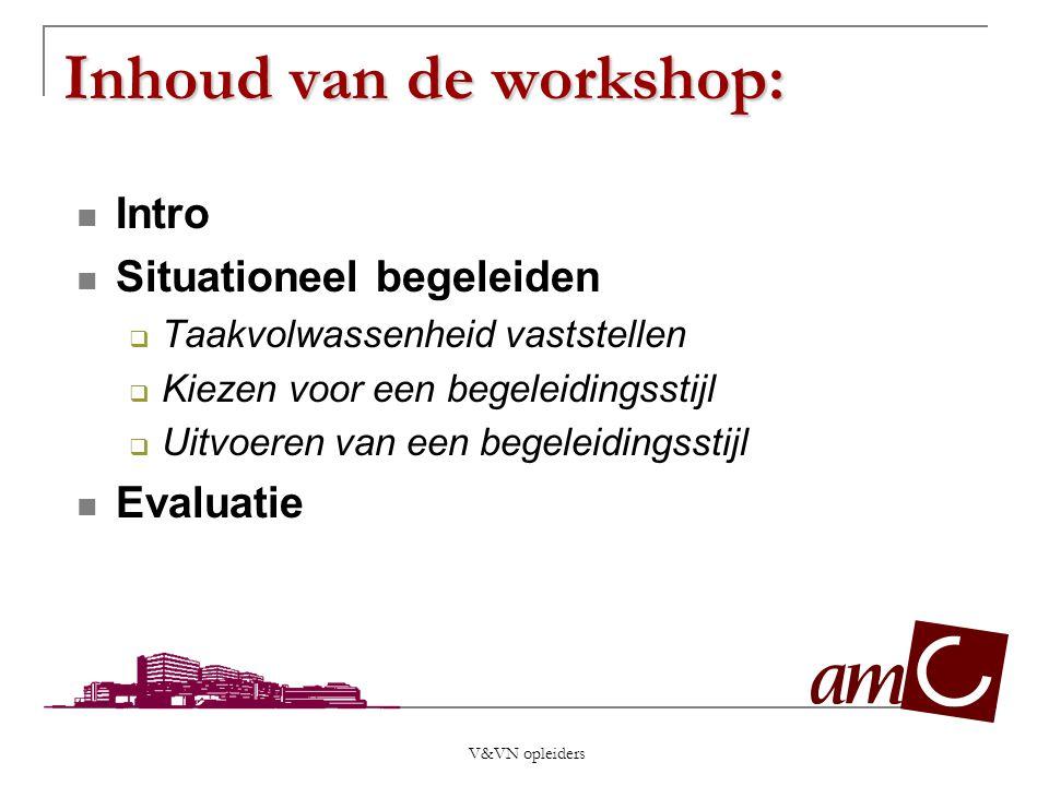 Inhoud van de workshop:
