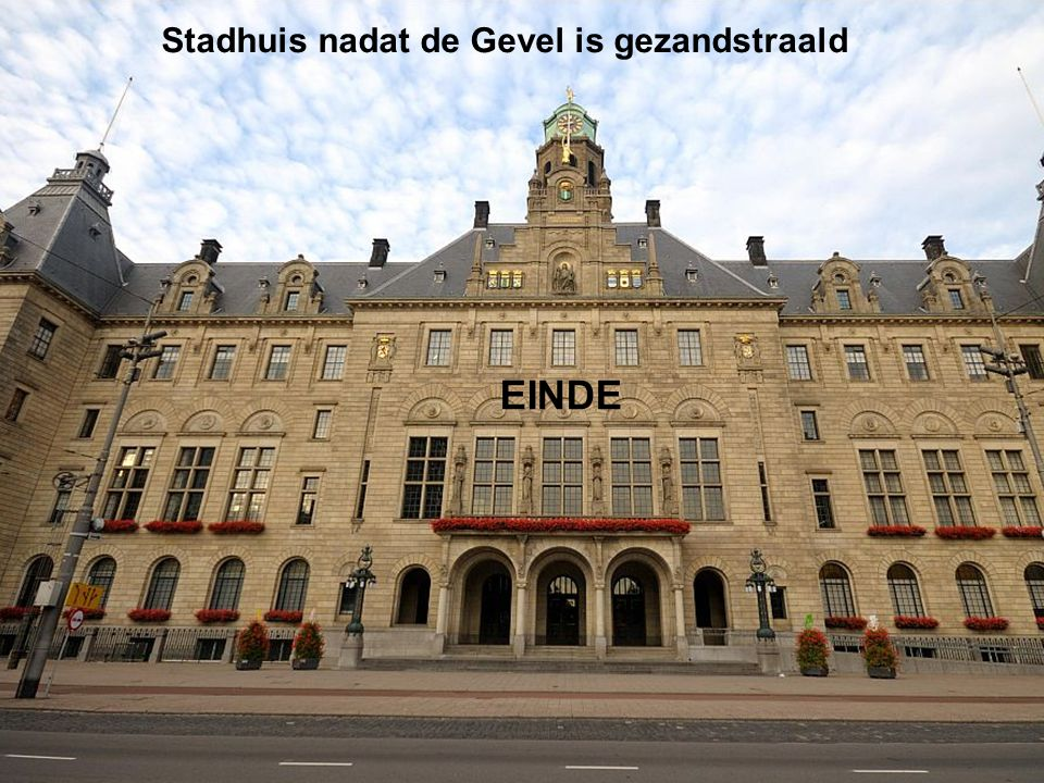 Stadhuis nadat de Gevel is gezandstraald