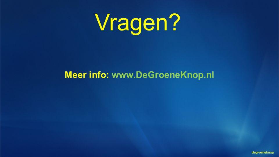 Meer info: www.DeGroeneKnop.nl