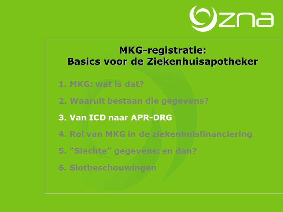 Datamanagement: MKG-cel en MKG-arts