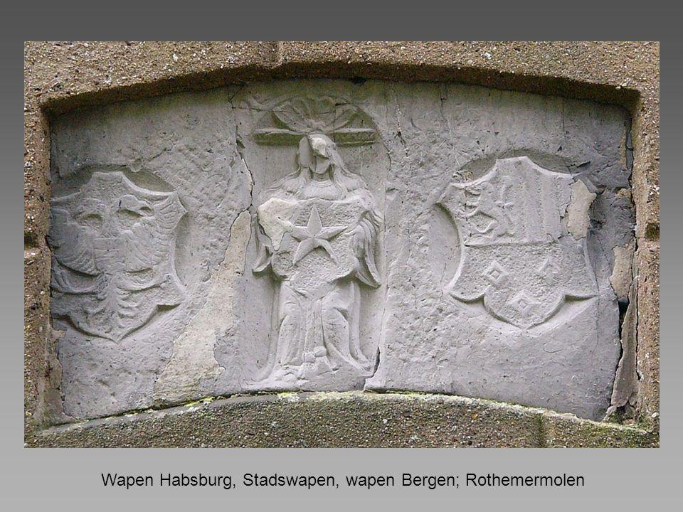 Wapen Habsburg, Stadswapen, wapen Bergen; Rothemermolen