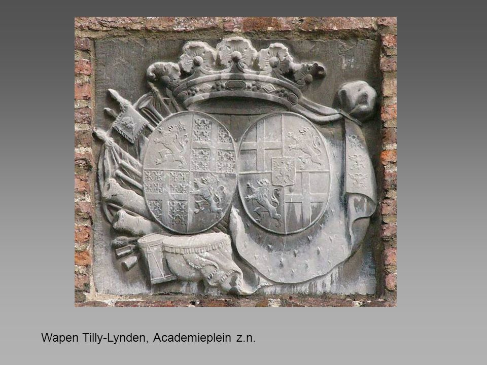 Wapen Tilly-Lynden, Academieplein z.n.