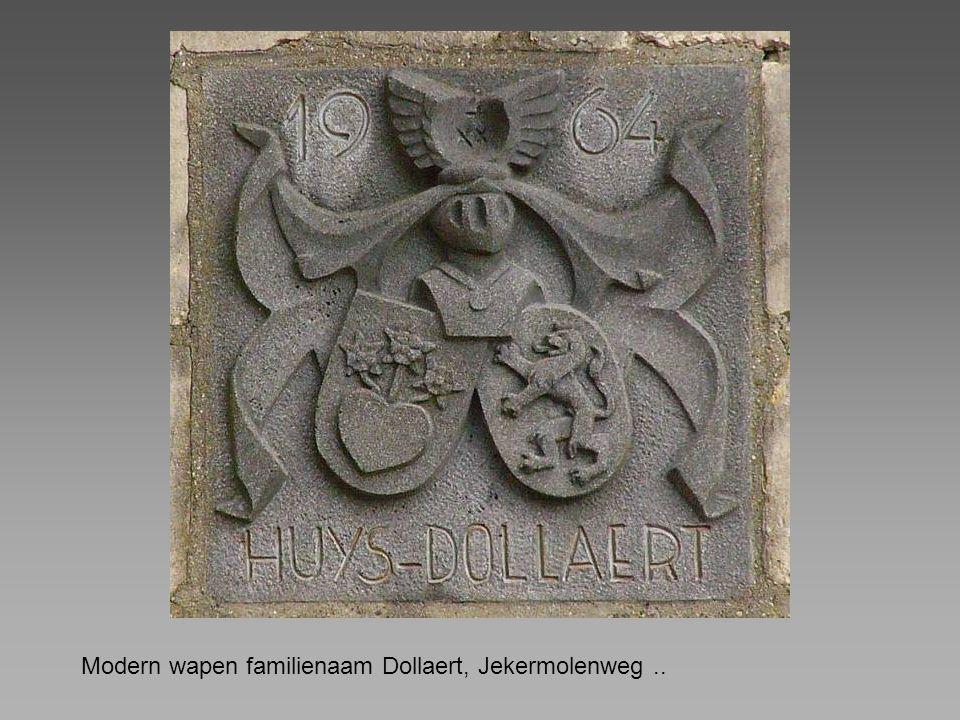 Modern wapen familienaam Dollaert, Jekermolenweg ..