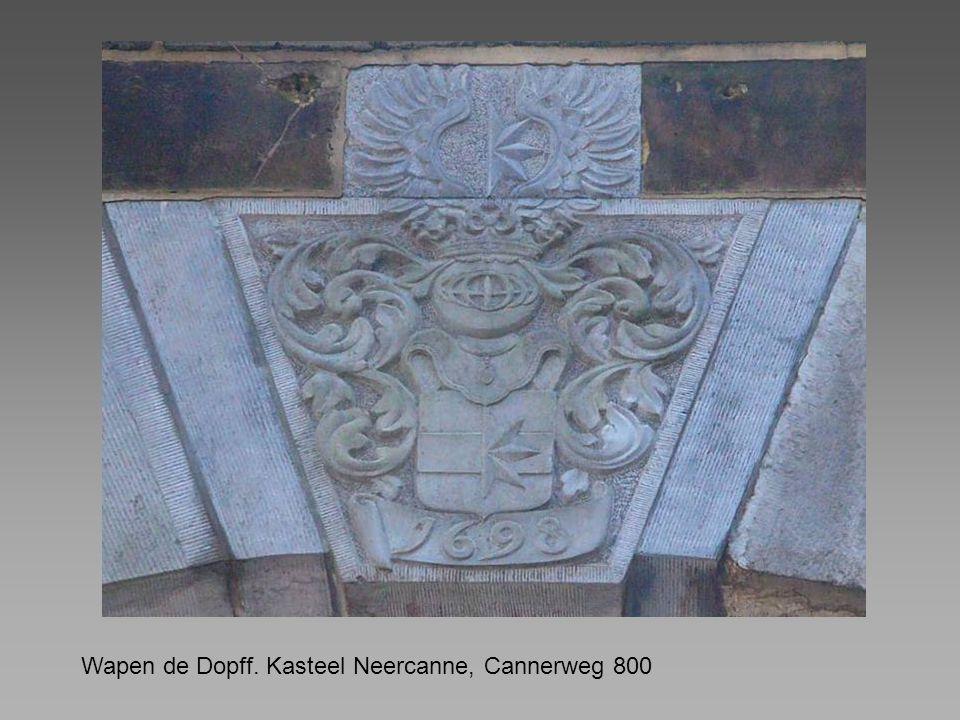 Wapen de Dopff. Kasteel Neercanne, Cannerweg 800