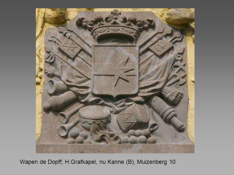 Wapen de Dopff, H.Grafkapel, nu Kanne (B), Muizenberg 10