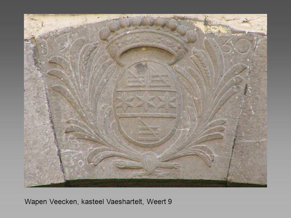Wapen Veecken, kasteel Vaeshartelt, Weert 9