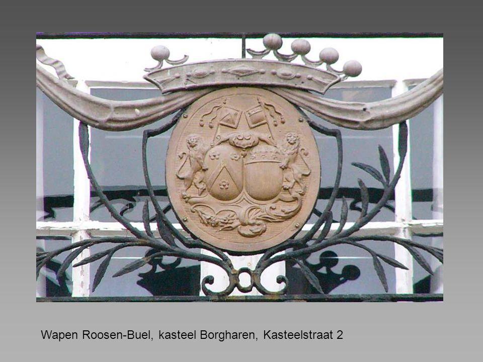 Wapen Roosen-Buel, kasteel Borgharen, Kasteelstraat 2