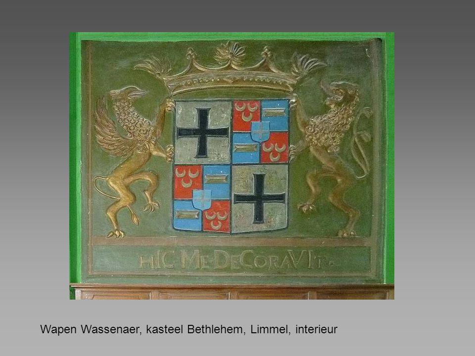 Wapen Wassenaer, kasteel Bethlehem, Limmel, interieur