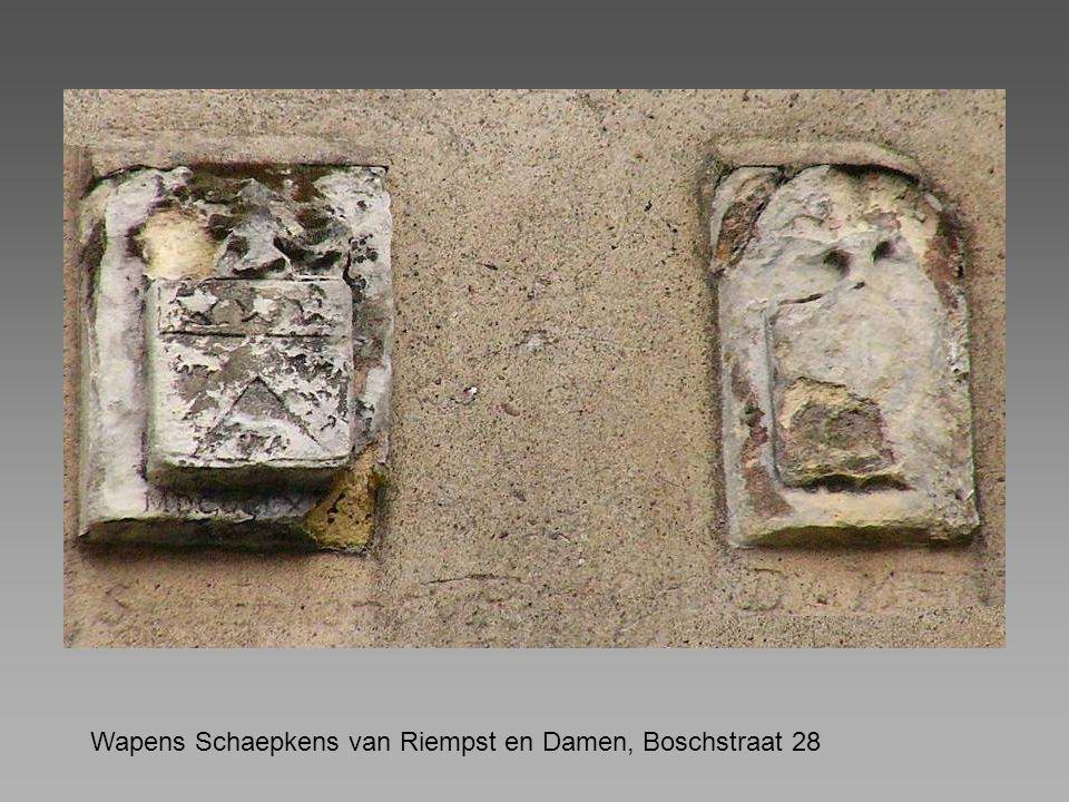 Wapens Schaepkens van Riempst en Damen, Boschstraat 28