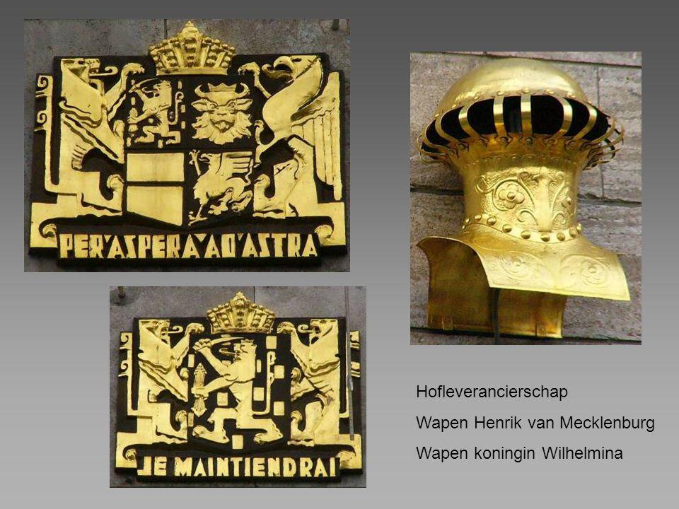 Hofleverancierschap Wapen Henrik van Mecklenburg Wapen koningin Wilhelmina
