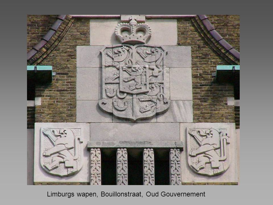 Limburgs wapen, Bouillonstraat, Oud Gouvernement