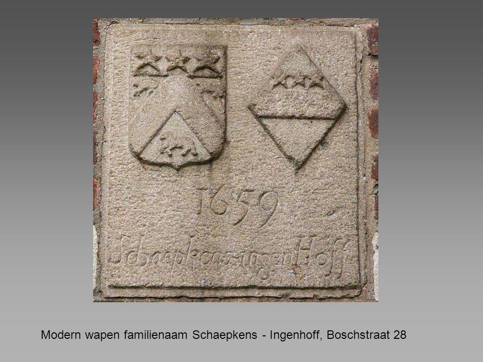 Modern wapen familienaam Schaepkens - Ingenhoff, Boschstraat 28
