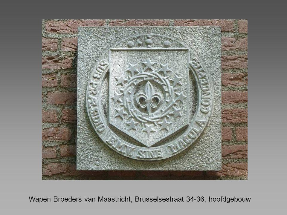 Wapen Broeders van Maastricht, Brusselsestraat 34-36, hoofdgebouw