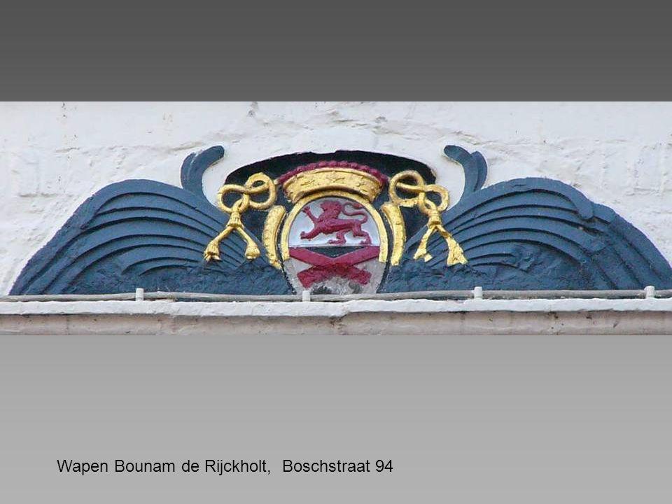 Wapen Bounam de Rijckholt, Boschstraat 94