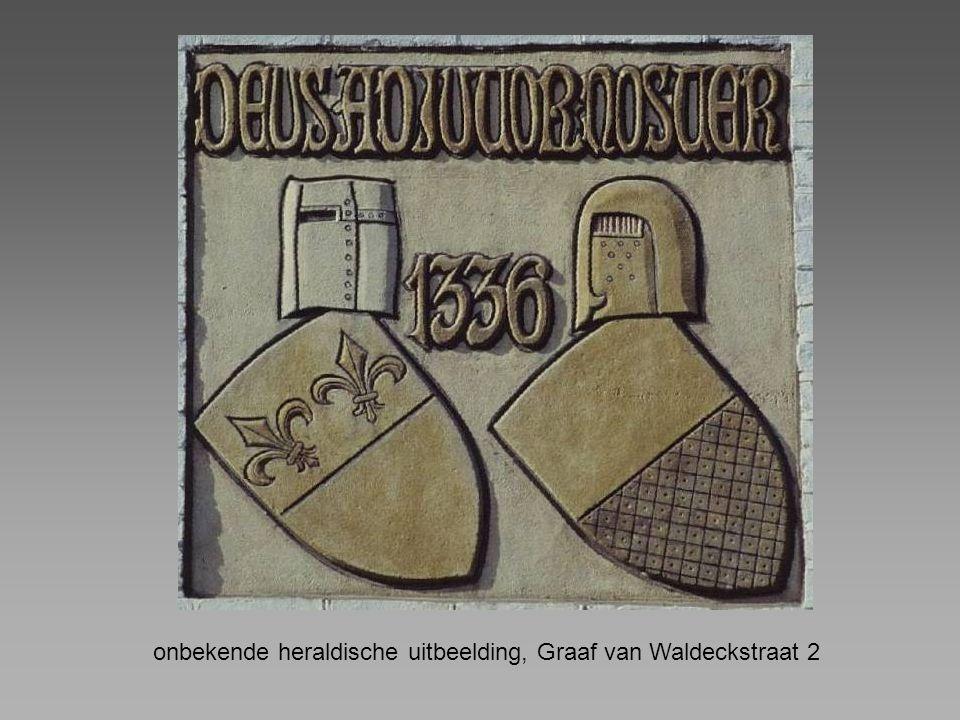 onbekende heraldische uitbeelding, Graaf van Waldeckstraat 2