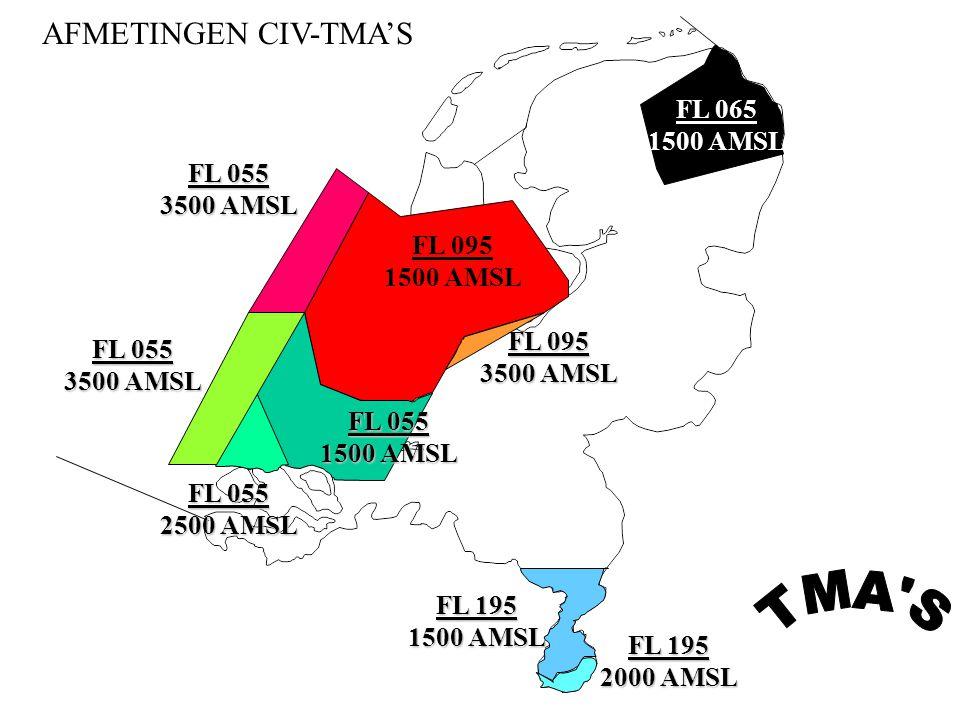 TMA S AFMETINGEN CIV-TMA'S FL 065 1500 AMSL FL 055 3500 AMSL FL 095