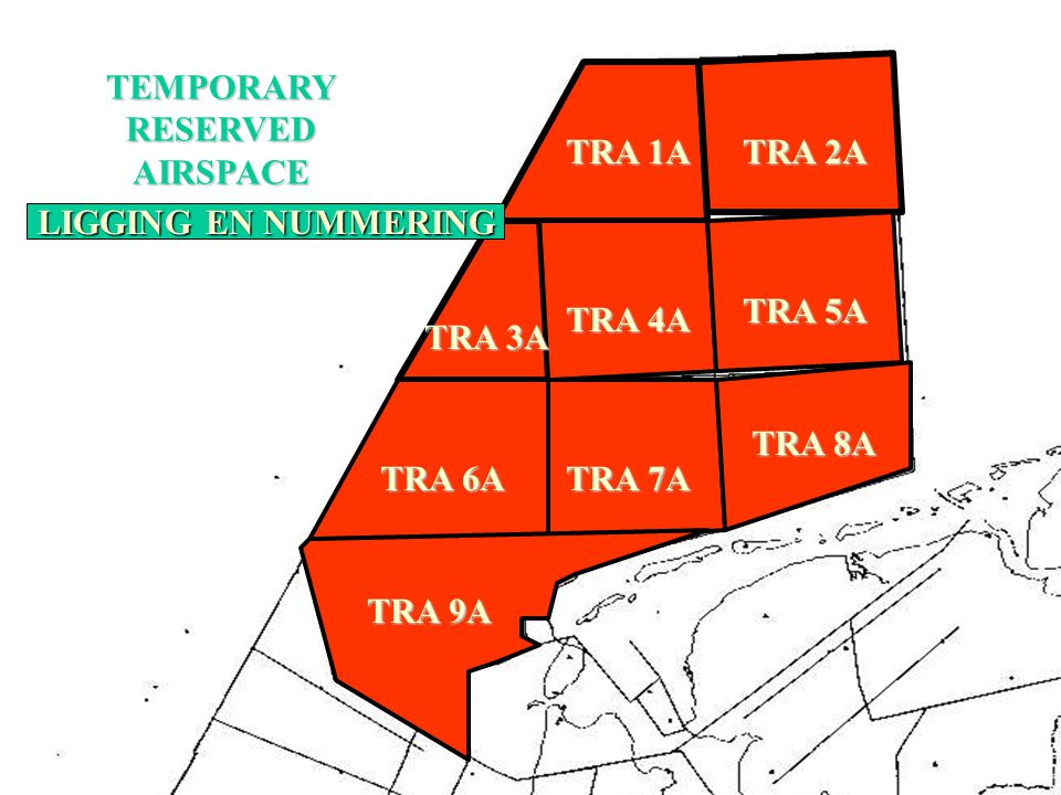 TEMPORARY RESERVED. AIRSPACE. TRA 1A. TRA 2A. TRA 3A. TRA 4A. TRA 5A. TRA 6A. TRA 7A. TRA 8A.