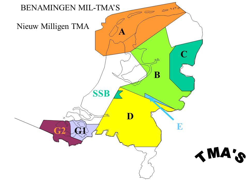BENAMINGEN MIL-TMA'S Nieuw Milligen TMA A C B SSB E D G2 G1 TMA S