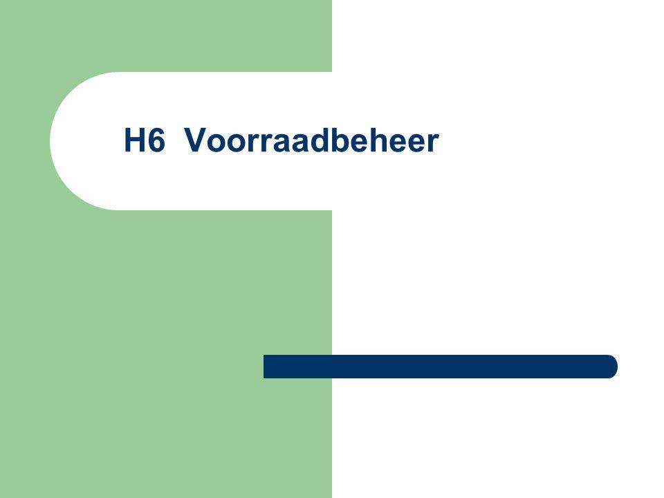 H6 Voorraadbeheer