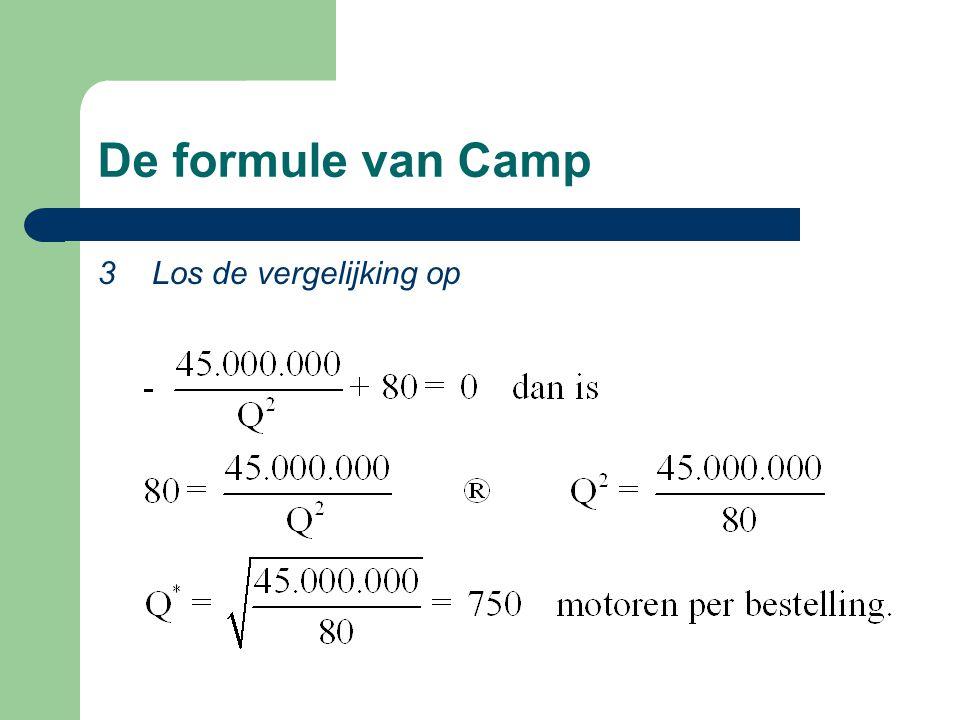 De formule van Camp 3 Los de vergelijking op